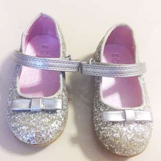 Glitter Silver Girl Shoe