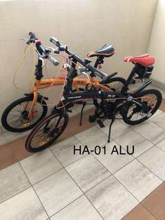 "4 units 20"" sporty folding bikes"