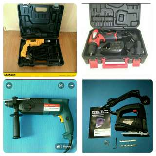 Electric Tools ◎Corded Drills ◎Battery Drill ◎Jig Saw ◎Router