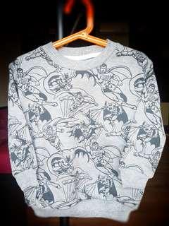 Kid's Sweater Motif Superman - Ukuran L