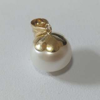 18k珍珠吊嘴(大珠) 18k(750) button pearl pendant(big pearl)