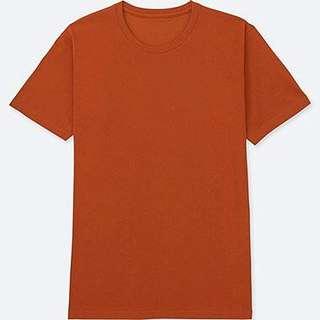 Dark orange plain tshirt