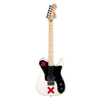 Squier Artist Deryck Whibley Telecaster Guitar, Maple Neck, Olympic White