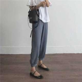 黑/藍/豆沙橘舒適燈籠褲