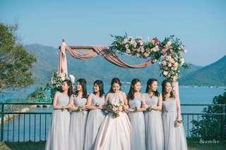 戶外草地 婚禮佈置 拱門