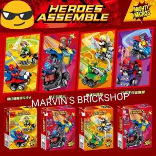Latest Super Hero Mighty Micros 4in1 set