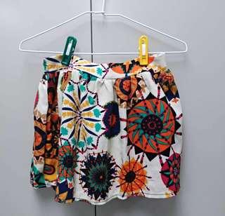 彩色圖騰短裙