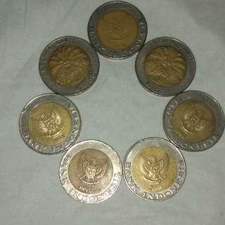 Uang logam 1994, 1995, 1996, 2000 antik bagus.. Ayo siapa cepat dia dapat.. Harga NEGOO / buah