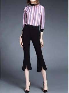 Korean Style Bell Bottom Pants