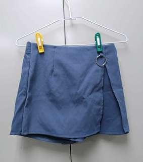 藍灰造型褲裙