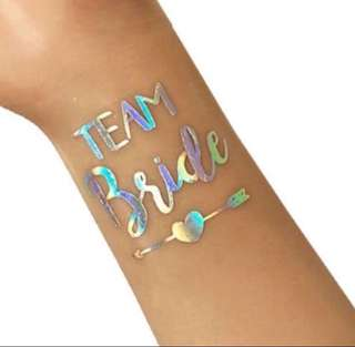 Holographic Bridal Tattoo (Team Bride Arrow) - brides / bridesmaid / wedding / decor / party / hens night / bachelorette / bride To Be