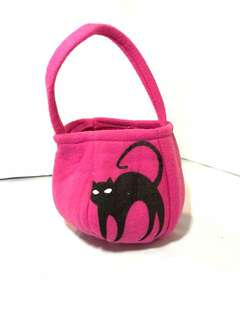 Halloween Basket Pink