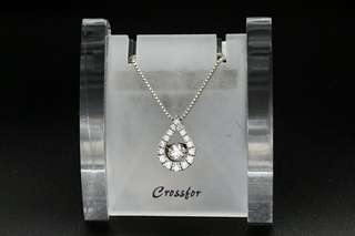 Crossfor New York Dancing Stone Twinkle Tear NYP-529 Silver Necklace