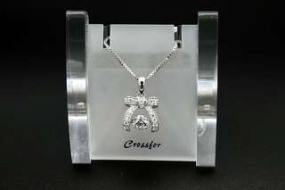 Crossfor New York Dancing Stone Dancing Ribon Wreath NYP-543 Silver Necklace