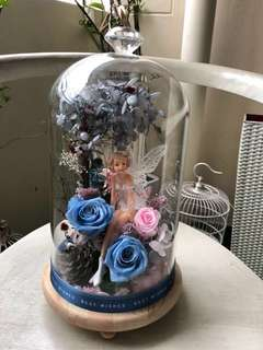GIANT size deco! Mother's Day gift! Preserved roses in a jar! Got light!