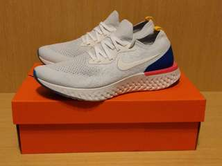 Nike Epic React Flyknit US8 ( AQ0067 101 racer trainer