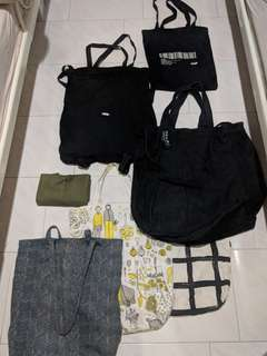 Actually, ikea and random shopping tote bags