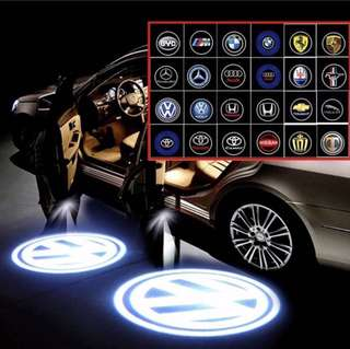 1pc New Car Fashion Popular Wireless Car Door Decorate Logo Pattern LED