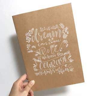 手寫記事簿/相冊 Calligraphy notebook/photo album