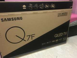 "Samsung Q7F QLED TV BOX 55"" (empty box only)"
