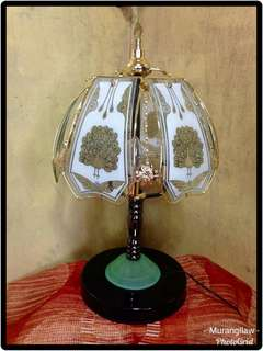 Long Stand Table Lamp Green