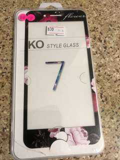 日本花iPhone 7 Plus玻璃貼