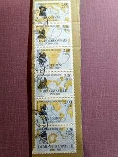 法國1988航海相連郵票