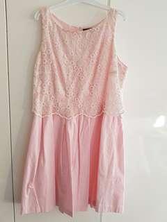Sweet Pink Dress w lace top