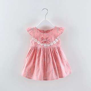 👧🏻(PO) Pink Baby Toddler Girl Dress