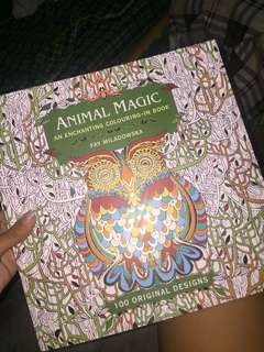 Animal Magic (Enchanting Colouring Adult book)