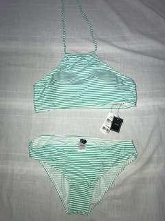 BRAND NEW For Me Two Piece Striped Bikini