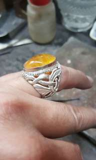 Ring setting in silver.925 and suasa.9k tip
