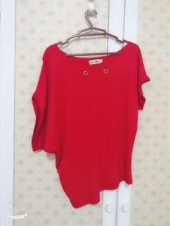 Second hand uneven style top