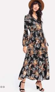 Shein Floral Maxi Dress