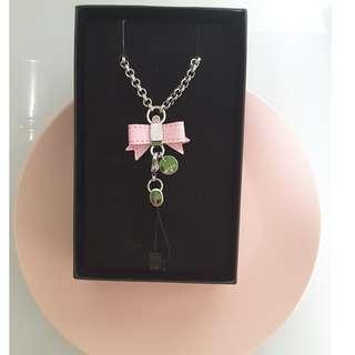 💖🆕Gift Box: Pink Ribbon Lanyard Keychain
