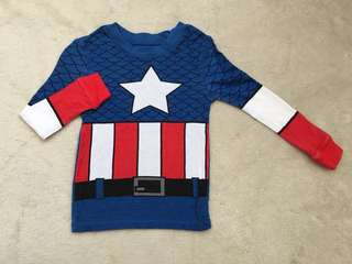 Captain America Top for boys (Size 3)