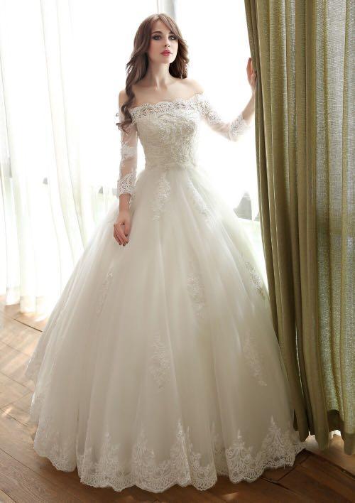 2018 Princess Bride Simple Bridal Gown Beautiful Wedding Dress ...