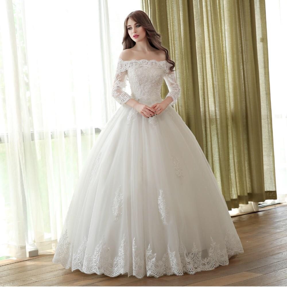 2018 Princess Bride Simple Bridal Gown Beautiful Wedding Dress