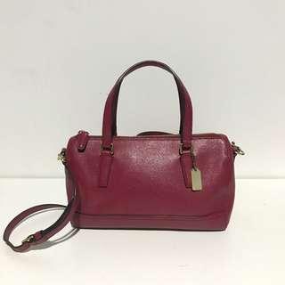 Coach saffiano leather mini satchel (sling bag)