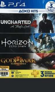 Horizon zero dawn + uncharted 4