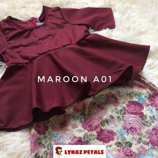 BABY PEPLUM+ SKIRT MAROON COLOR