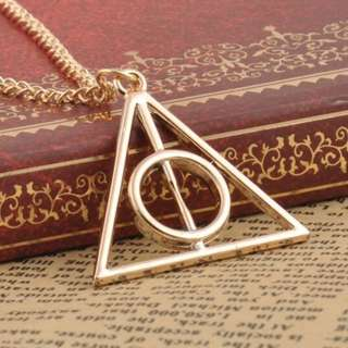 [New] Harry Potter Deathly Hallows sign necklace