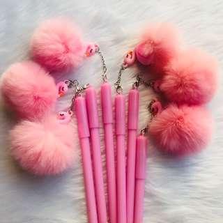 Flamingo Ballpen with Fur