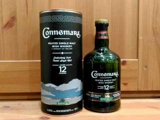 Empty Bottle- Connemara Peated Single Malt Irish Whiskey