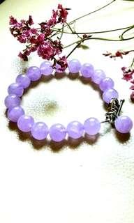 "Beautiful Sweet Lavender Amethyst Bracelet. 7.5"" 10mm bead. New"
