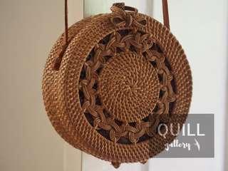 Cute Round Rattan Bag