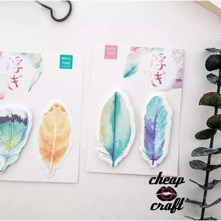 2pcs of Feather Sticky Notes