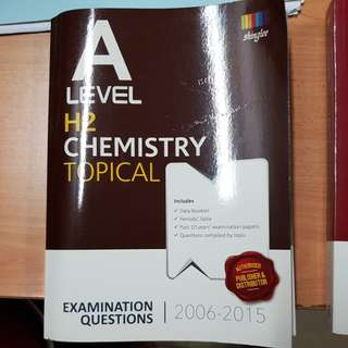 A level H2 Chemistry Topical 2006-2015