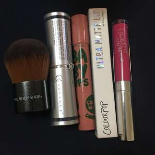 Lipsticks,foundation and  brush