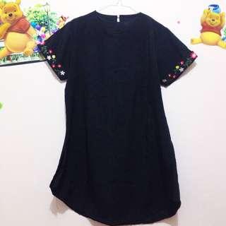 Dress hitam embroidery